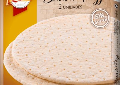 BASES DE PIZZA SIN GLUTEN