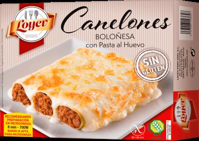 CANELONES BOLOÑESA CON PASTA AL HUEVO