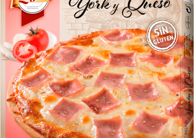Pizza jamon york y queso