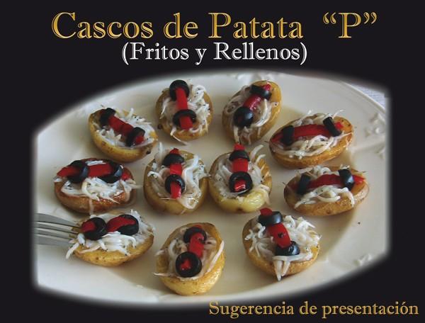 Cascos de patata. Sugerencia de presentación