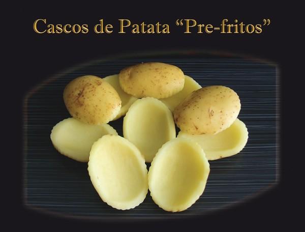 Cascos de patata prefritos