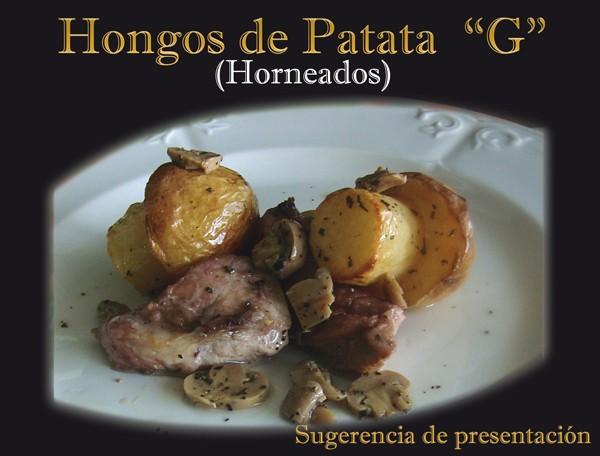 Hongos de patata. Sugerencia de presentación.