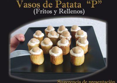 Vasos de patata. Sugerencia de presentación.